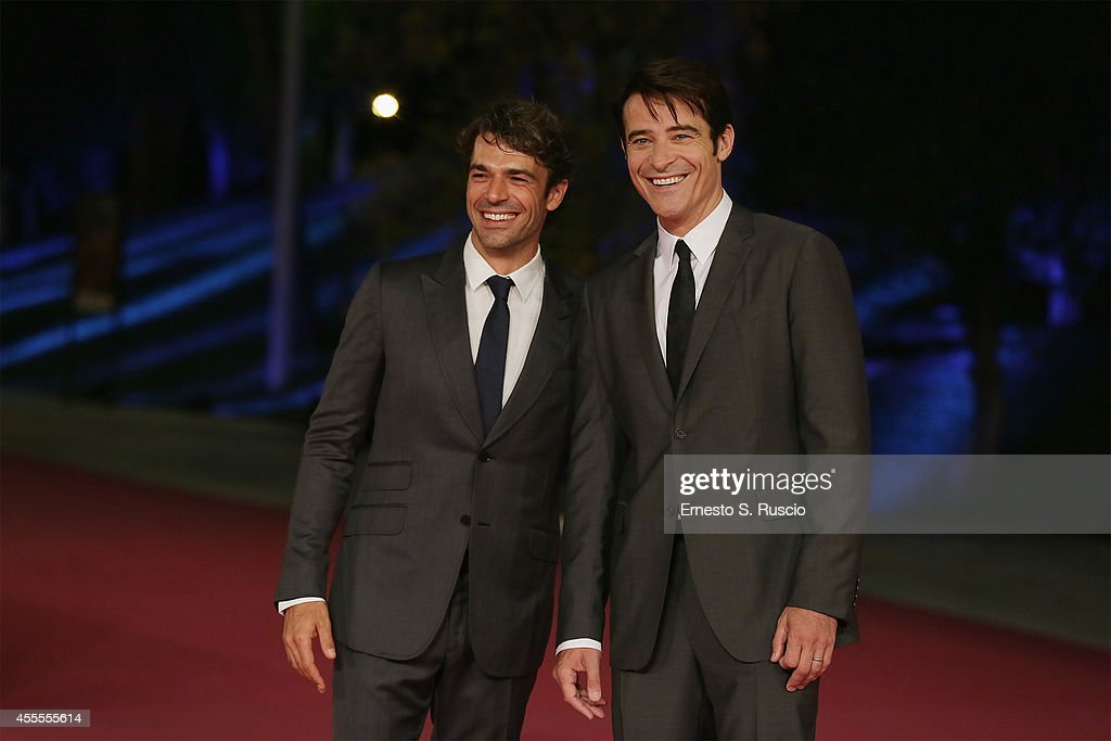 Luca Argentero and Goran Visnjic attend the 'Extant' pink carpet at Auditorium Parco Della Musica as a part of Roma Fiction Fest 2014 on September 16, 2014 in Rome, Italy.