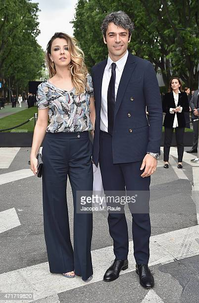 Luca Argentero and Myriam Catania attend the Giorgio Armani 40th Anniversary Silos Opening And Cocktail Reception on April 30 2015 in Milan Italy
