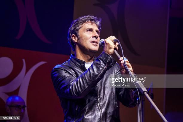 Luca Barbarossa an Italian singer in concert at Napoli
