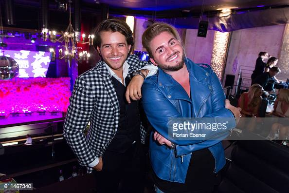 Luca Bazzanella and Justus Toussis attend the InTouch Awards 'Icons Idols' at Nachtresidenz on September 29 2016 in Duesseldorf Germany