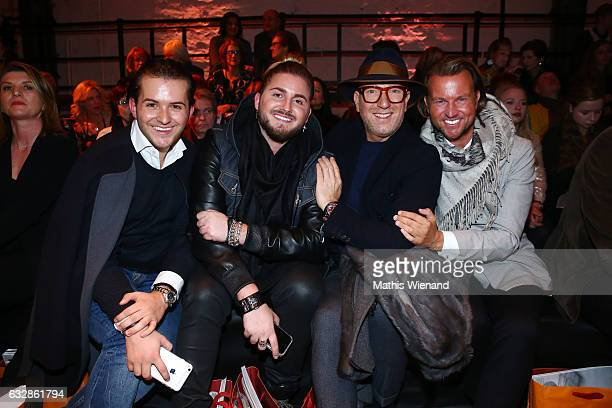 Luca Bazzanella Justus Toussis Thomas Rath and Sandro Rath attend the Breuninger show during Platform Fashion January 2017 at Areal Boehler on...