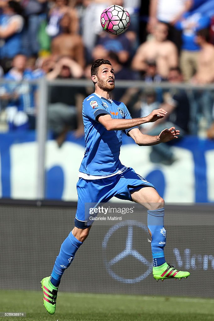 Luca Biottante of Empoli FC in action during the Serie A match between Empoli FC and Bologna FC at Stadio Carlo Castellani on May 1, 2016 in Empoli, Italy.