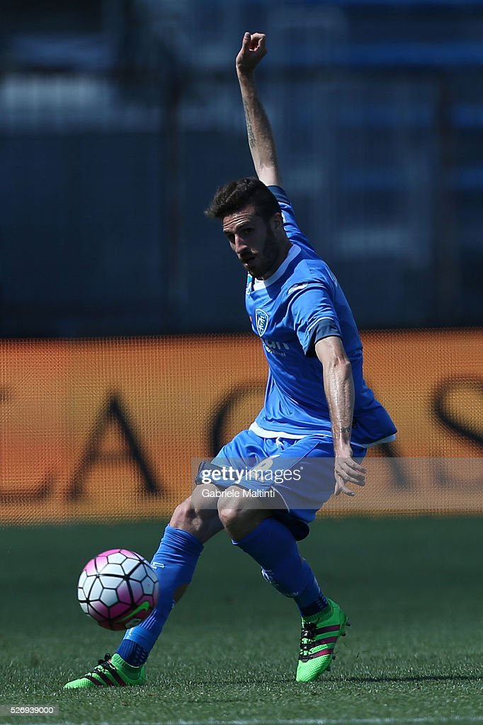 Luca Bittante of Empoli FC in action during the Serie A match between Empoli FC and Bologna FC at Stadio Carlo Castellani on May 1, 2016 in Empoli, Italy.