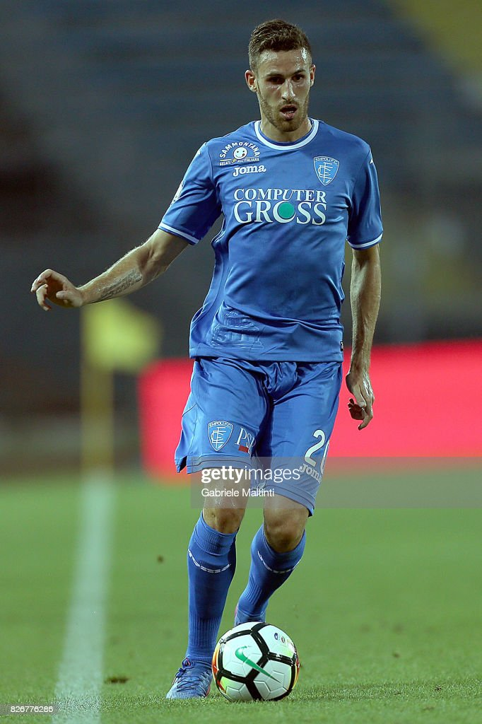 Luca Bittante of Empoli Fc in action during the TIM Cup match between Empoli FC and Renate at Stadio Carlo Castellani on August 5, 2017 in Empoli, Italy.