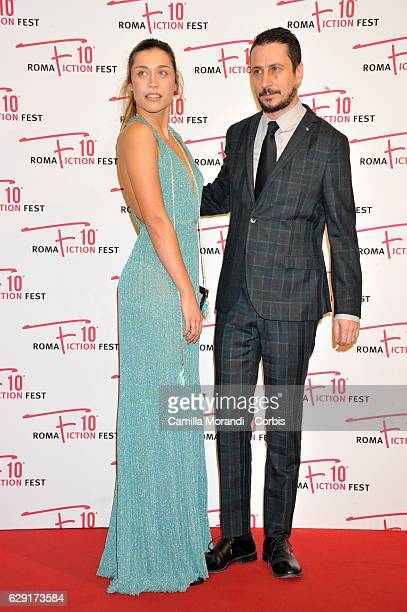 Luca Bizzarri and Ludovica Frasca attend a red carpet for ' Immaturi' during the Roma Fiction Fest on December 11 2016 in Rome Italy