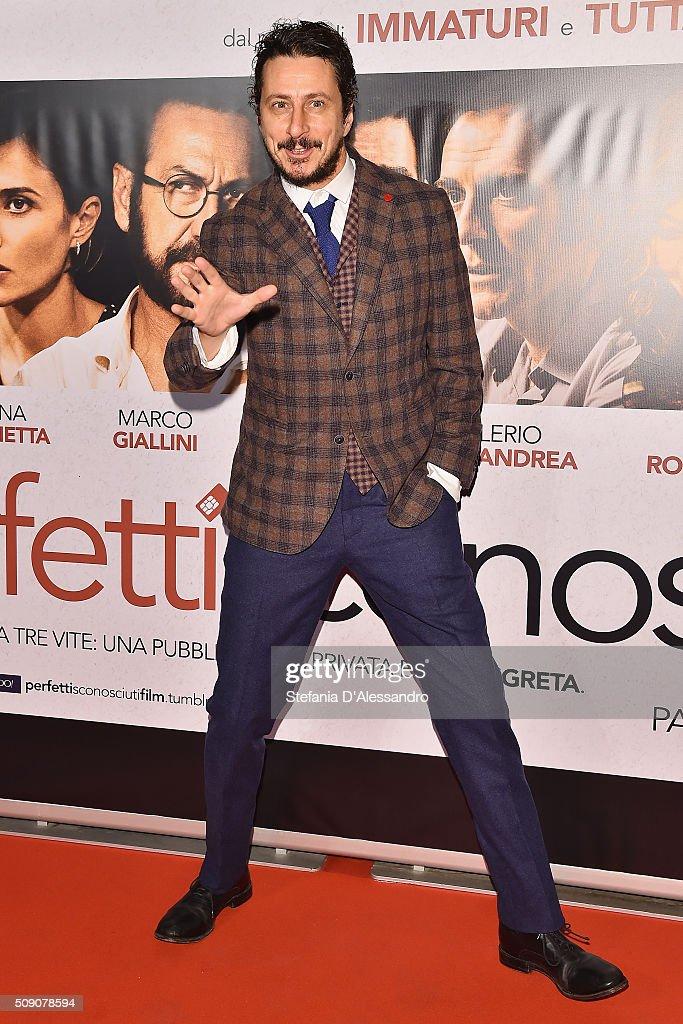Luca Bizzarri attends 'Perfetti Sconosciuti' Premiere held at Odeon Cinema on February 8, 2016 in Milan, Italy.