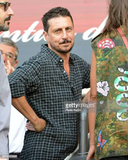 Luca Bizzarria actor and new President of Palazzo Ducale in Genoa during the TIM Cup match between Genoa CFC and AC Cesena at Stadio Luigi Ferraris...