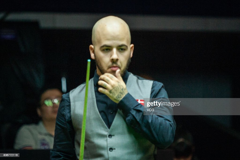 Luca Brecel of Belgium reacts during his final match against Shaun Murphy of England on day seven of Evergrande 2017 World Snooker China Champion at Guangzhou Sport University on August 22, 2017 in Guangzhou, Guangdong Province of China.
