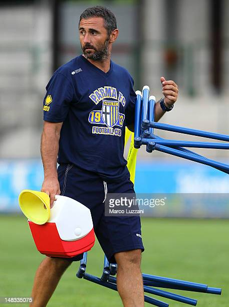 Luca Bucci during a Parma FC preseason training camp on day one on July 14 2012 in Levico Terme near Trento Italy