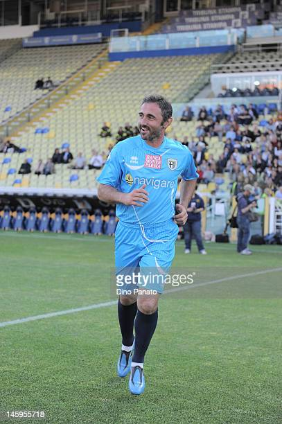 Luca Bucci goalkeeper of Parma before a charity match betwen Parma FC and Old Glories at Stadio Ennio Tardini on May 18 2012 in Parma Italy