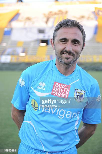 Luca Bucci goalkeeper of Parma poses before a charity match betwen Parma FC and Old Glories at Stadio Ennio Tardini on May 18 2012 in Parma Italy