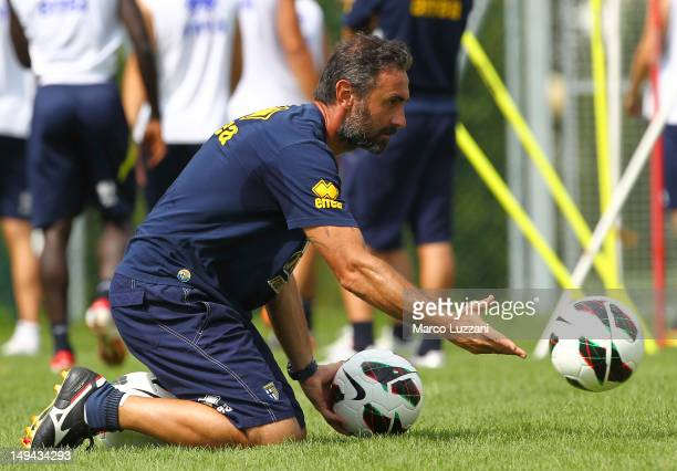 Luca Bucci of FC Parma during day fifteen of the FC Parma preseason training camp on July 28 2012 in Levico Terme near Trento Italy