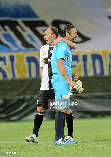 Luca Bucci of Parma after a charity match betwen Parma FC and Old Glories at Stadio Ennio Tardini on May 18 2012 in Parma Italy