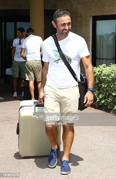 Luca Bucci of Parma Fc arrive to a preseason meeting at Geovillage Hotel on July 4 2012 in Olbia Italy