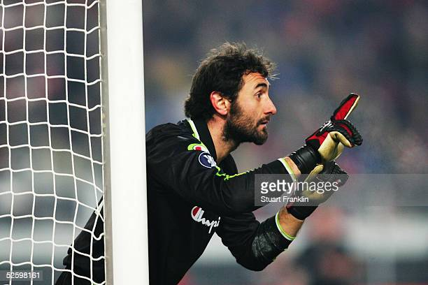 Luca Bucci of Parma in action during the UEFA Cup third round match between VfB Stuttgart and FC Parma at The GottliebDaimler Stadium on February 24...