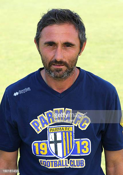 Luca Bucci poses during the official Parma FC portrait session on August 11 2012 in Parma Italy