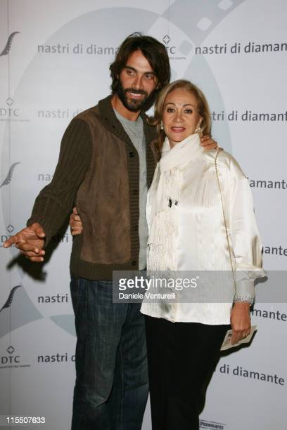 Luca Calvani and Rosetta sannelli during The Diamond Ribbon Awards Honor the Four Most Recent Italian Directors to Win Academy Awards for Best...