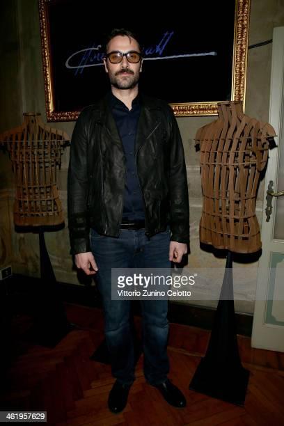 Luca Calvani attends the Bugatti and L'Uomo Vogue 'The magic of la vie en bleu' Collection party as a part of Milan Fashion Week Menswear...