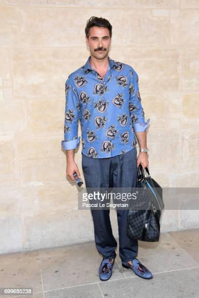 Luca Calvani attends the Louis Vuitton Menswear Spring/Summer 2018 show as part of Paris Fashion Week on June 22 2017 in Paris France
