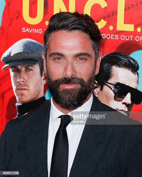 Luca Calvani attends the New York Premiere for 'The Man From UNCLE' at Ziegfeld Theater on August 10 2015 in New York City