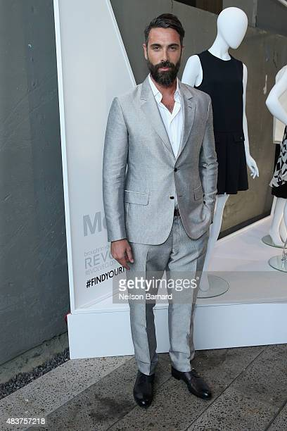 Luca Calvani attends the StyleWatch x Revolve Fall Fashion Party on the The High Line on August 12 2015 in New York City