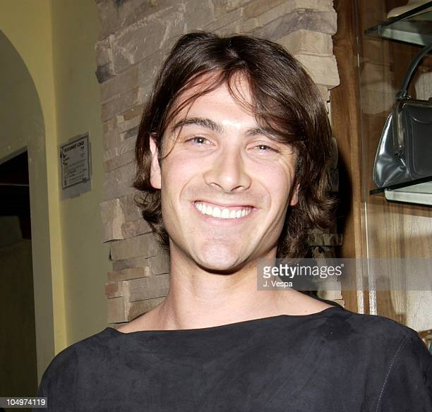 Luca Calvani during Los Angeles Fashion Week Frederick's of Hollywood Fall 2002 Collection at Star Shoes in Los Angeles California United States
