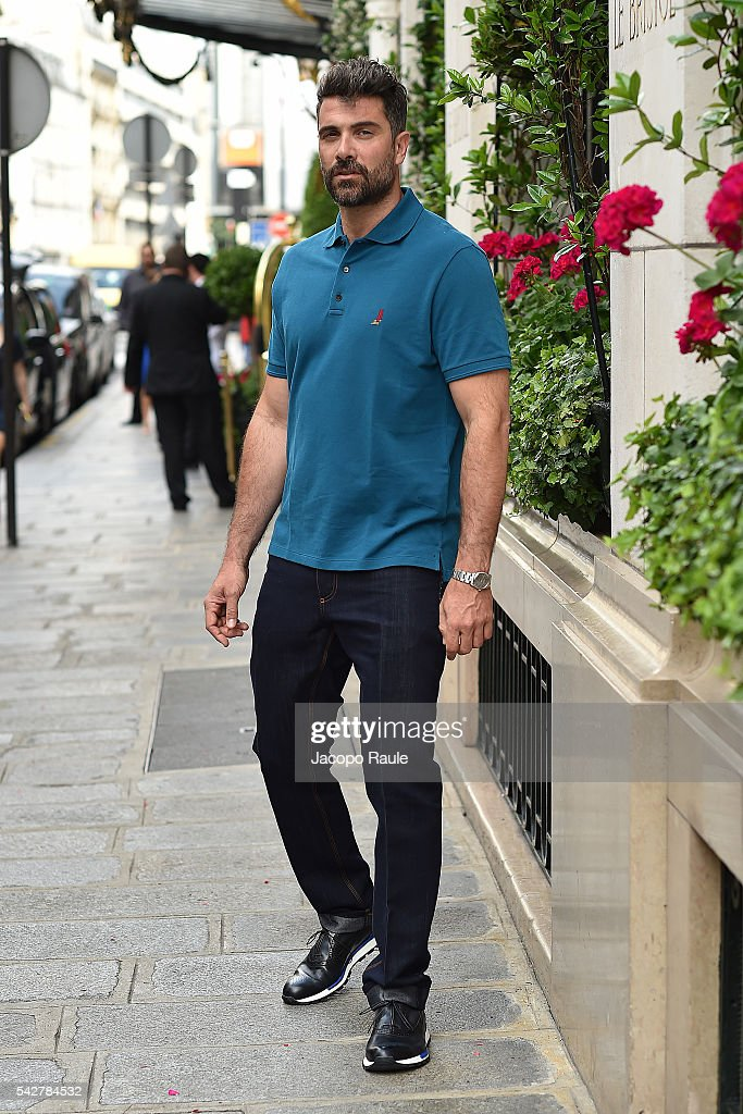 <a gi-track='captionPersonalityLinkClicked' href=/galleries/search?phrase=Luca+Calvani&family=editorial&specificpeople=3559471 ng-click='$event.stopPropagation()'>Luca Calvani</a> is seen wearing total look Berluti duringParis Fashion Week - Menswear Spring/Summer 2017