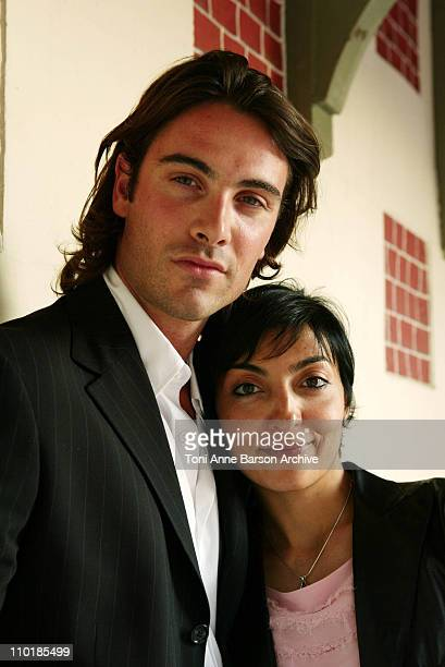 Luca Calvani Writer/Director Mandy Riggi during 2003 Deauville Film Festival 'Parallele Passage' Portraits at CID in Deauville France