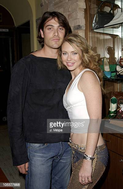 Luca Calvani Yvonne Scio during Los Angeles Fashion Week Frederick's of Hollywood Fall 2002 Collection at Star Shoes in Los Angeles California United...