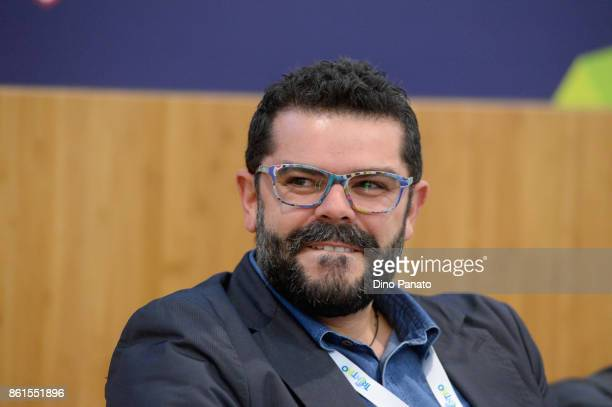 Luca Casazza attends the second day of the Hackathon Event at the University of Letters on October 15 2017 in Trento Italy