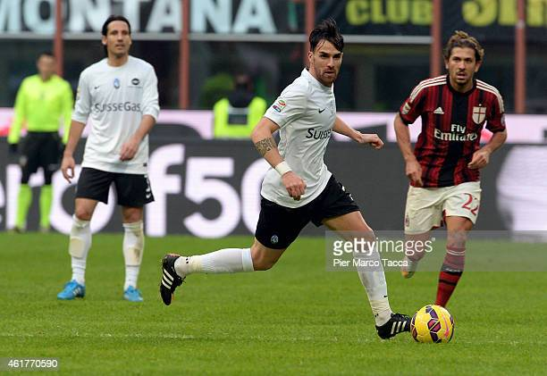 Luca Cigarini of Atalanta BC in action during the Serie A match between AC Milan and Atalanta BC at Stadio Giuseppe Meazza on January 18 2015 in...