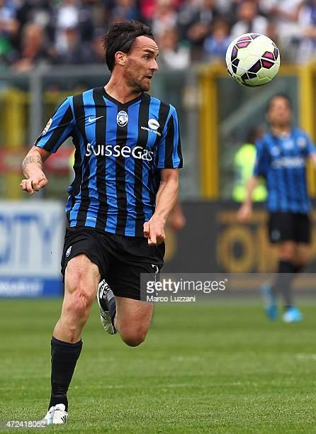 Luca Cigarini of Atalanta BC in action during the Serie A match between Atalanta BC and SS Lazio at Stadio Atleti Azzurri d'Italia on May 3 2015 in...