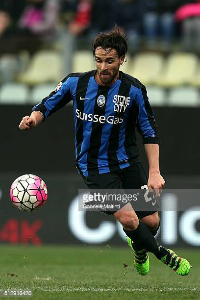Luca Cigarini of Atalanta BC in action during the Serie A match between Carpi FC and Atalanta BC at Alberto Braglia Stadium on February 28 2016 in...