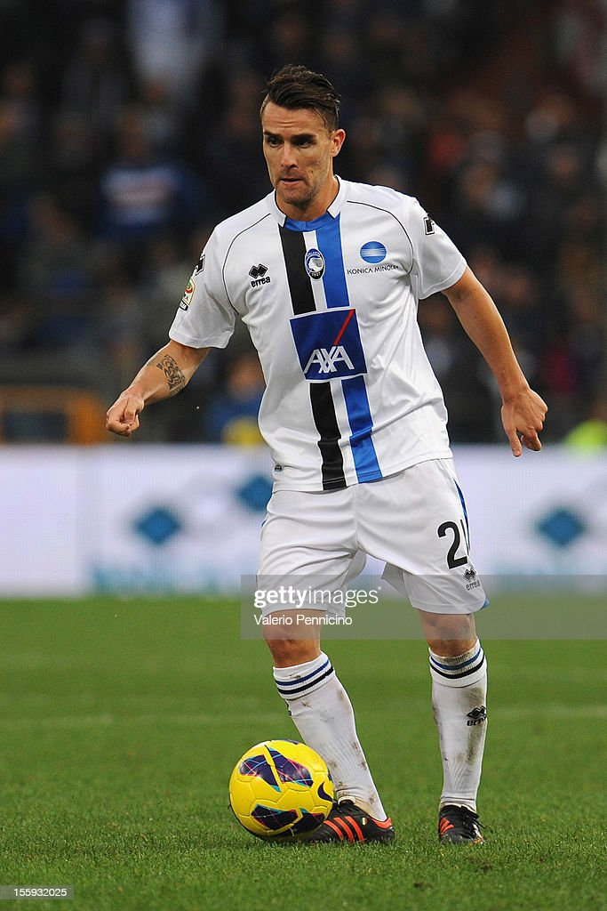 Luca Cigarini of Atalanta BC in action during the Serie A match between UC Sampdoria and Atalanta BC at Stadio Luigi Ferraris on November 4, 2012 in Genoa, Italy.