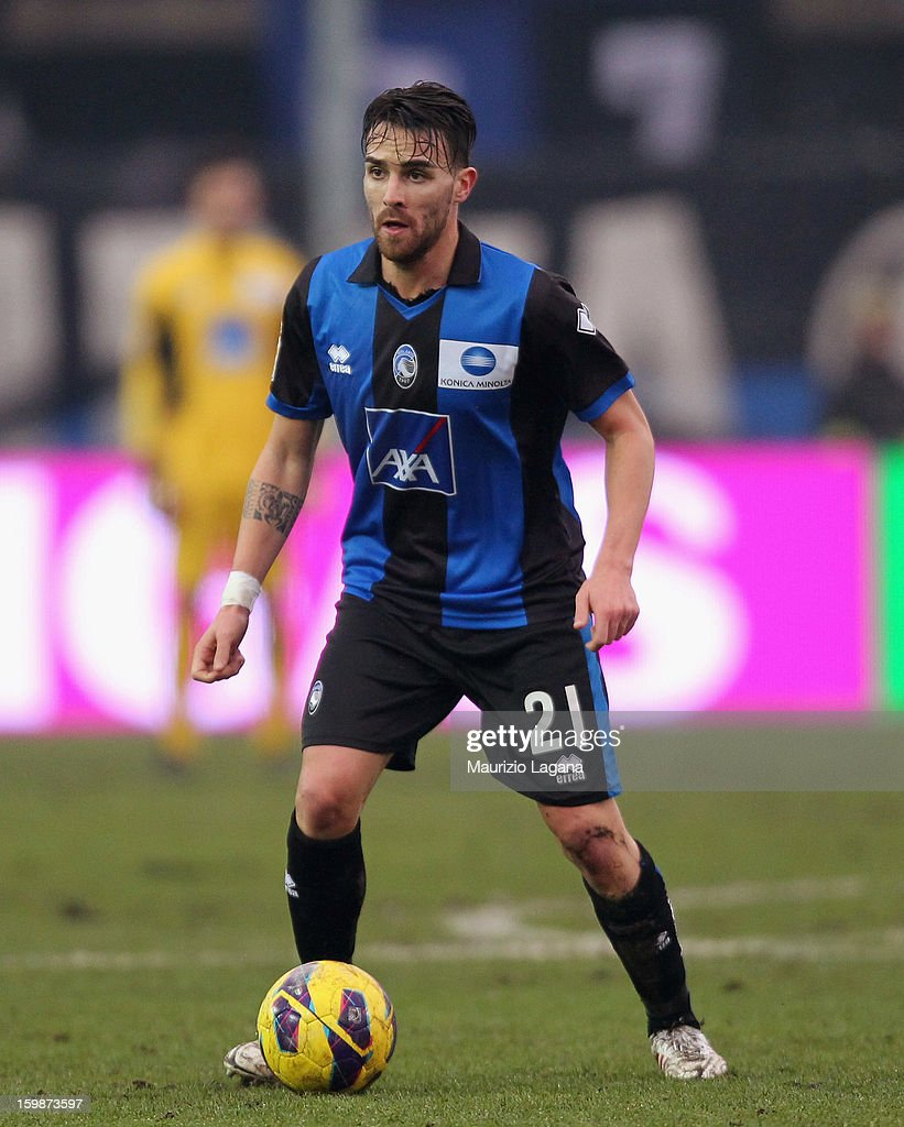 <a gi-track='captionPersonalityLinkClicked' href=/galleries/search?phrase=Luca+Cigarini&family=editorial&specificpeople=3933790 ng-click='$event.stopPropagation()'>Luca Cigarini</a> of Atalanta during the Serie A match between Atalanta BC and Cagliari Calcio at Stadio Atleti Azzurri d'Italia on January 20, 2013 in Bergamo, Italy.