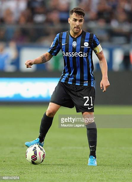 Luca Cigarini of Atalanta during the Serie A match between Atalanta BC and Hellas Verona FC at Stadio Atleti Azzurri d'Italia on August 31 2014 in...