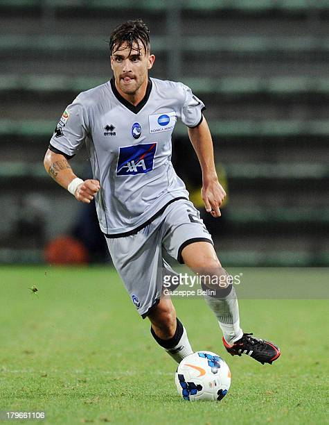 Luca Cigarini of Atalanta in action during the Serie A match between Cagliari Calcio and Atalanta BC at Stadio Nereo Rocco on August 25 2013 in...
