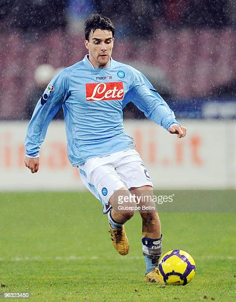 Luca Cigarini of Napoli in action during the Serie A match between Napoli and Genoa at Stadio San Paolo on January 30 2010 in Naples Italy