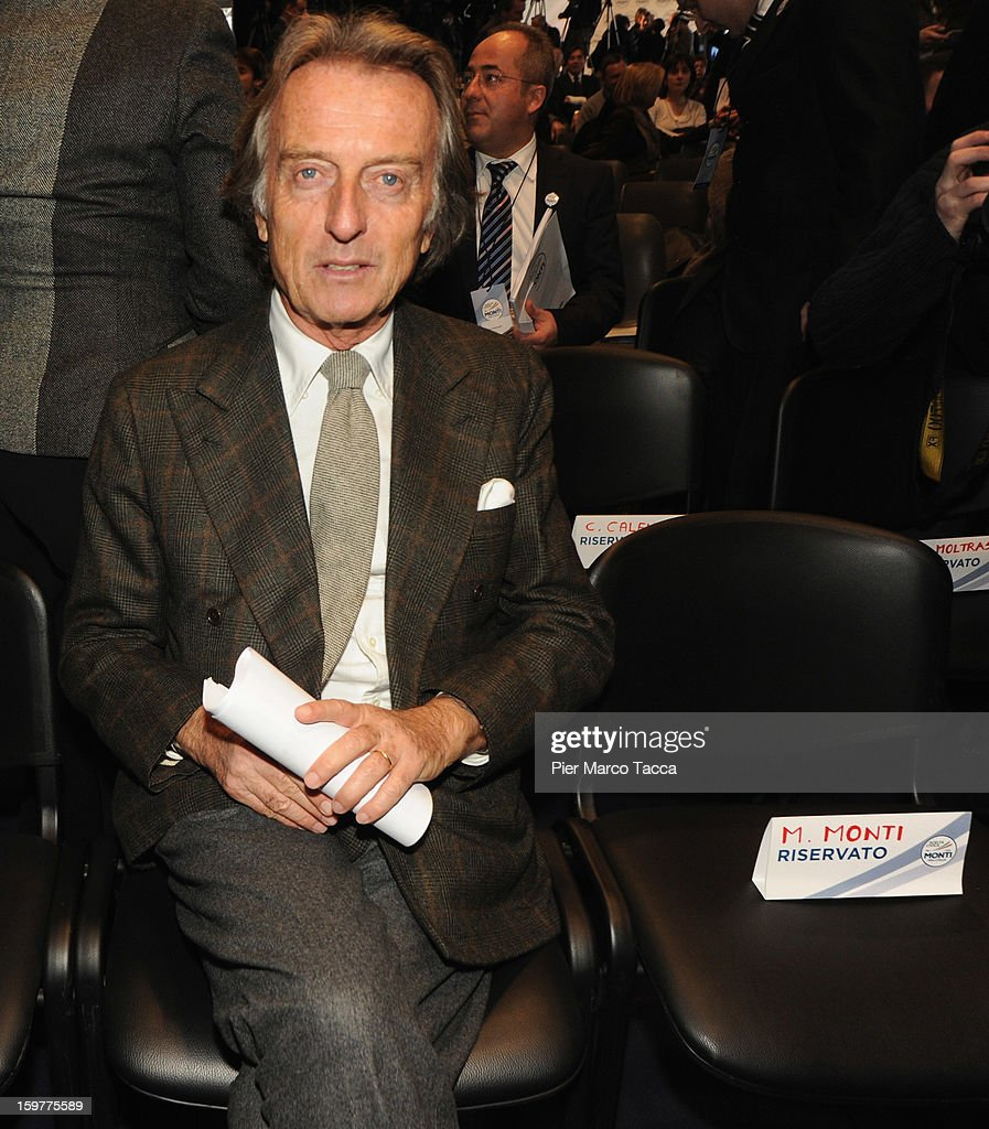 Luca Cordero di Montezemolo attends a campaign rally for Mario Monti's centrist alliance 'With Monti For Italy' (Con Monti Per L'Italia) at Kilometro Rosso on January 20, 2013 in Bergamo, Italy. Monti used the rally to unveil the list of candidates for the 'Civic Choice' (Scelta Civica) movement, a bloc that will form part of the centrist alliance running in February's parliamentary elections.