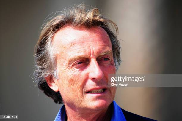 Luca Cordero di Montezemolo Chairman of Ferrari is seen in the paddock during qualifying for the Abu Dhabi Formula One Grand Prix at the Yas Marina...