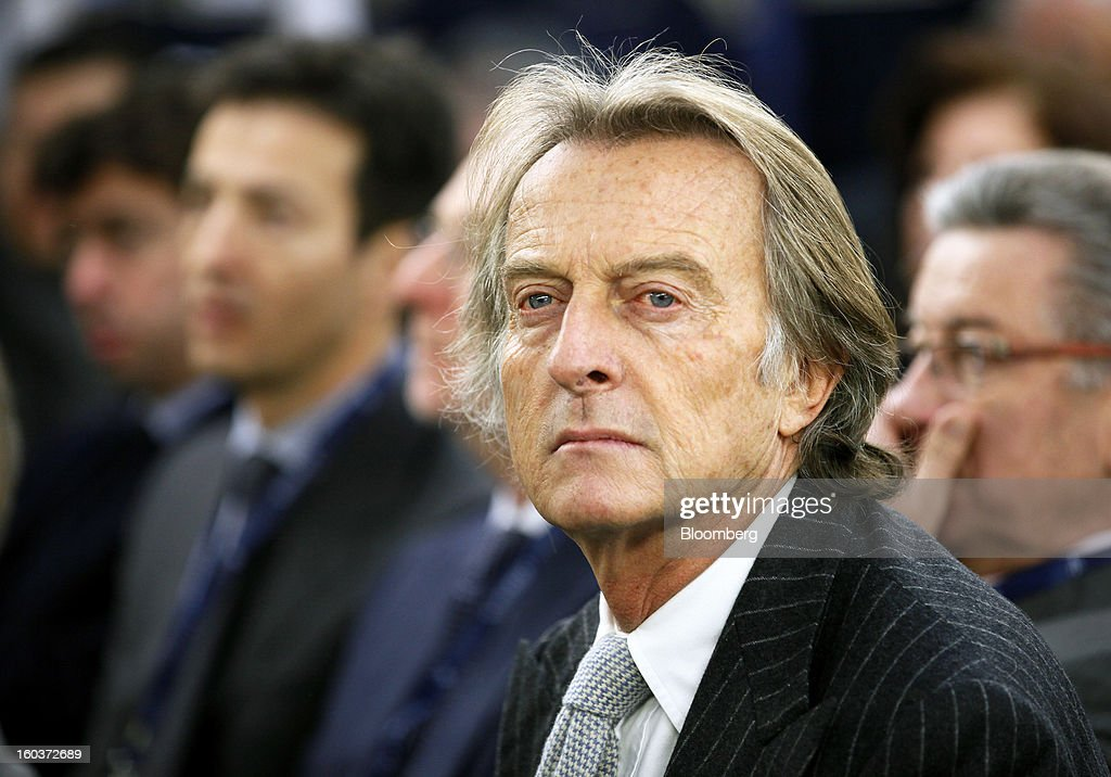 Luca Cordero di Montezemolo, chairman of Ferrari SpA, attends the inauguration of Maserati's Grugliasco factory in Turin, Italy, on Wednesday, Jan. 30, 2013. Fiat SpA Chief Executive Officer Sergio Marchionne said the Italian carmaker narrowed losses in Europe in the fourth quarter, helping it achieve full-year earnings that were in line with its forecasts. Photographer: Alessia Pierdomenico/Bloomberg via Getty Images