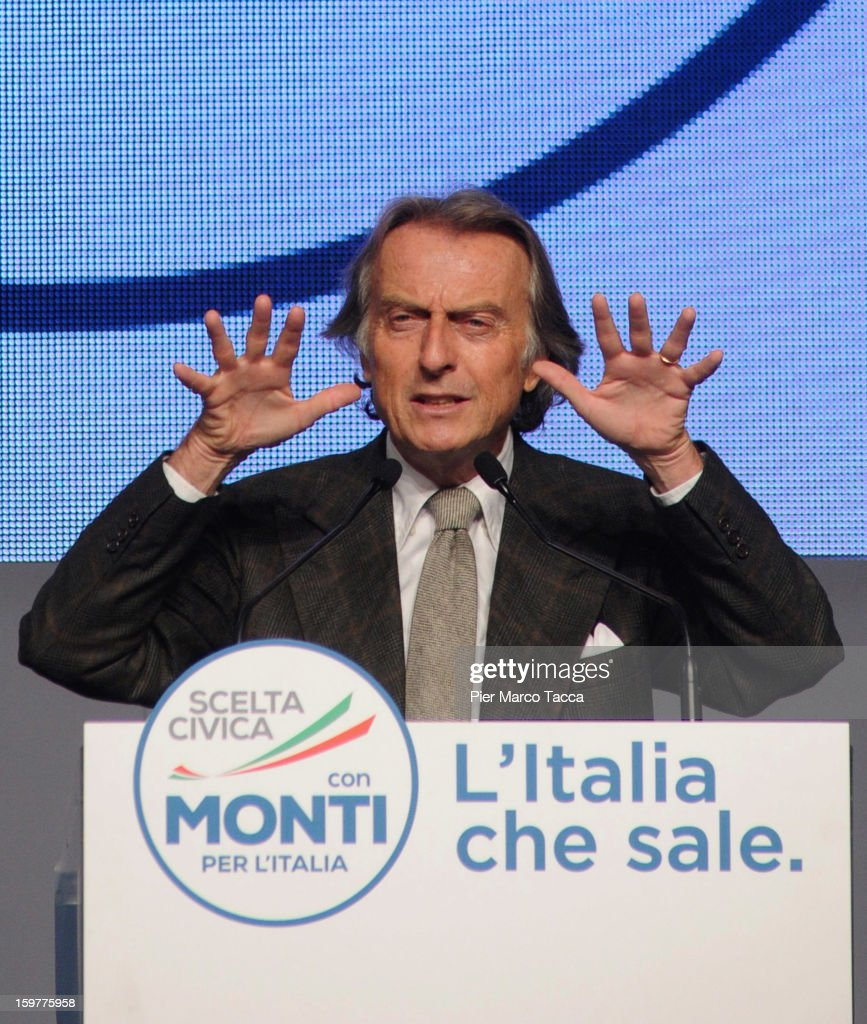 <a gi-track='captionPersonalityLinkClicked' href=/galleries/search?phrase=Luca+Cordero+di+Montezemolo&family=editorial&specificpeople=236070 ng-click='$event.stopPropagation()'>Luca Cordero di Montezemolo</a> delivers a speech at a campaign rally for Mario Monti's centrist alliance 'With Monti For Italy' (Con Monti Per L'Italia) at Kilometro Rosso on January 20, 2013 in Bergamo, Italy. Monti used the rally to unveil the list of candidates for the 'Civic Choice' (Scelta Civica) movement, a bloc that will form part of the centrist alliance running in February's parliamentary elections.