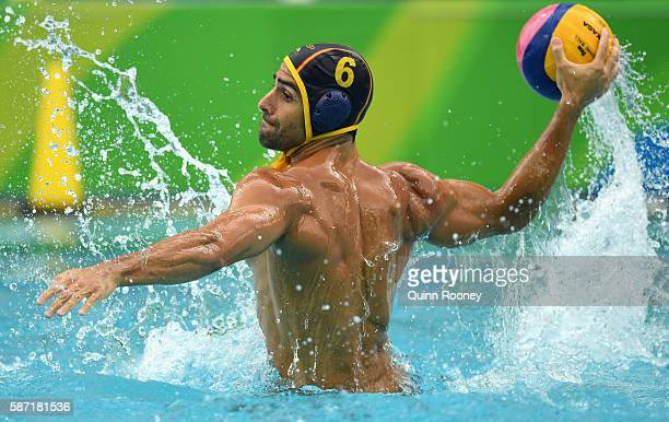 Luca Cupido of Spain shoots for goal during the Men's Prelimimary Round Group B match between the United States of America and Spain on Day 3 of the...