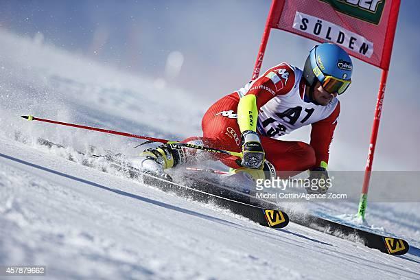 Luca De Aliprandini of Italy competes during the Audi FIS Alpine Ski World Cup Men's Giant Slalom on October 26 2014 in Soelden Austria