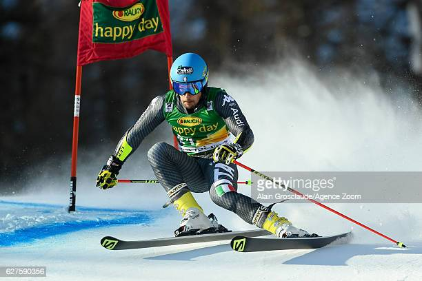 Luca De Aliprandini of Italy competes during the Audi FIS Alpine Ski World Cup Men's Giant Slalom on December 4 2016 in Val d'Isere France