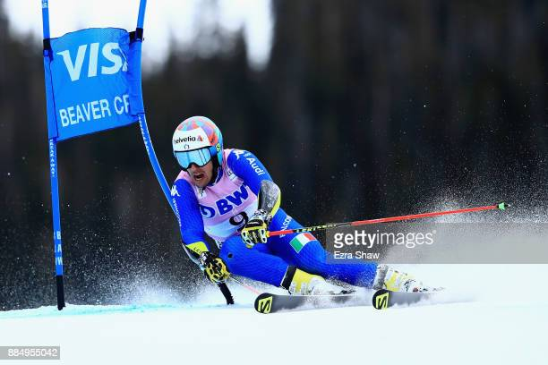 Luca De Aliprandini of Italy competes in the second run of the Birds of Prey World Cup Giant Slalom race on December 3 2017 in Beaver Creek Colorado