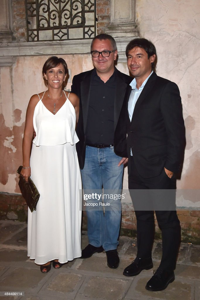 Luca Dini and Fedele Usai attend 'The Humbling' premiere after party during the 71st Annual Venice Film Festival on August 30, 2014 in Venice, Italy.