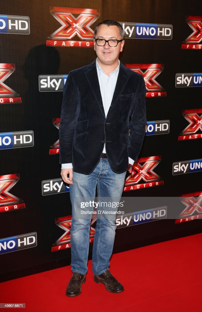 Luca Dini attends 'X Factor 2013 - The Final' Red Carpet on December 12, 2013 in Milan, Italy.