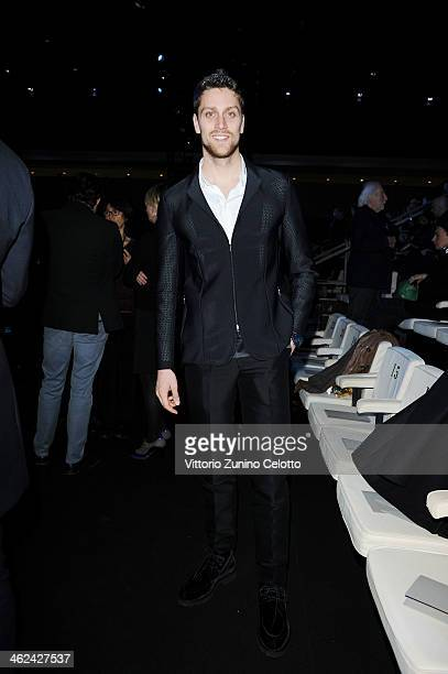 Luca Dotto attends the Emporio Armani show as a part of Milan Fashion Week Menswear Autumn/Winter 2014 on January 13 2014 in Milan Italy
