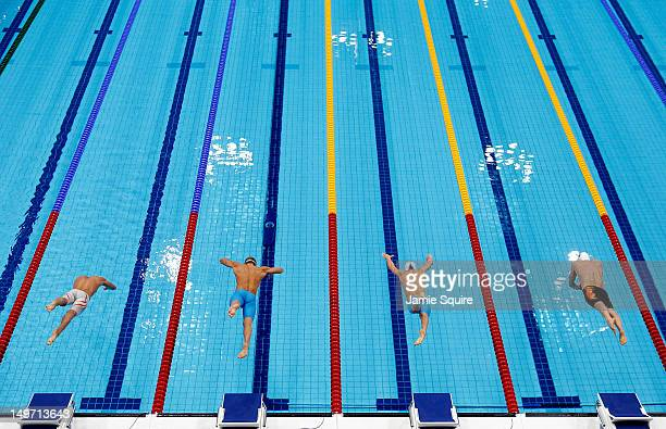 Luca Dotto of Italy Andrey Gretchin of Russia Bruno Fratus of Brazil and George Richard Bovell of Trinidad and Tobago compete in the Men's 50m...
